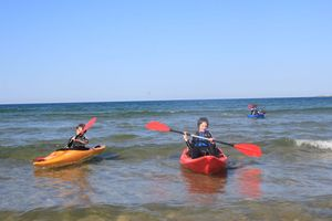 Canoeing on the Moray Firth.