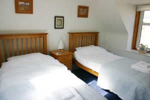 Cullen Holiday Cottage Moray double bedroom.